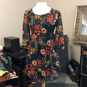ModCloth Floral pattern retro inspired dress